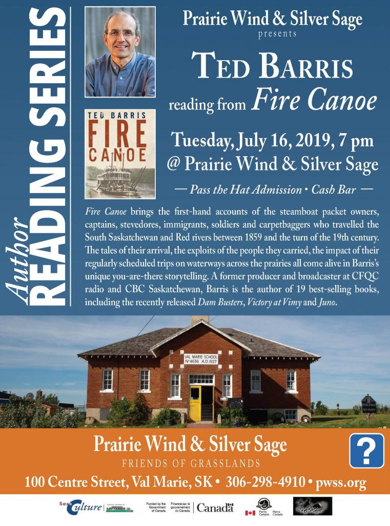 Author Reading Ted Barris July 16 @ PWSS