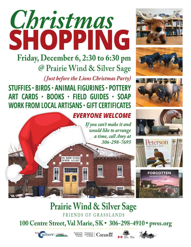 Christmas Shopping at Prairie Wind & Silver Sage in Val Marie, December 6