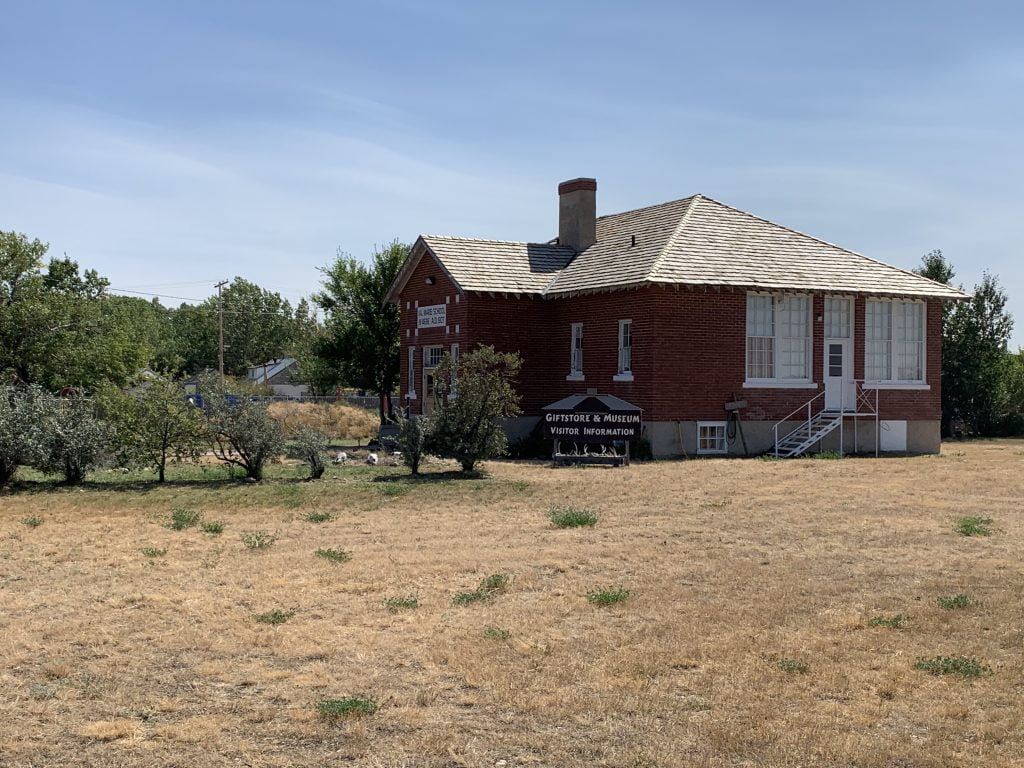 The Little Brick Schoolhouse in 2020, home to Prairie Wind & Silver Sage